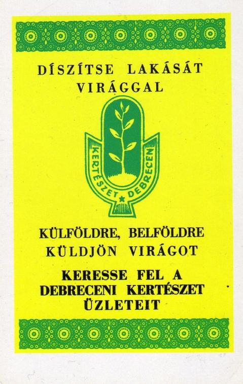 Debreceni Kertészet - 1971