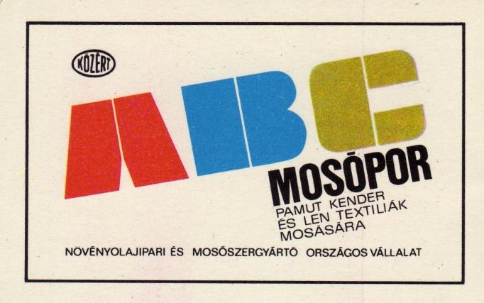 Növényolajipari és Mosószergyártó Országos Vállalat (Közért-ABC) - 1968